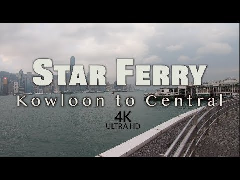 Star Ferry from Kowloon to Center - How to travel in Hong Kong for visitors - 4K HD