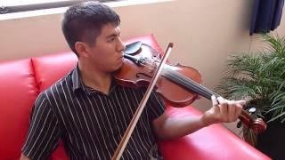 Violinista danzante de tijeras