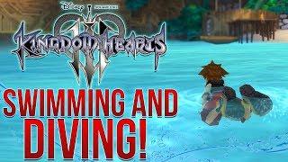 Kingdom Hearts 3 - Swimming RETURNS And Sora Can DIVE!