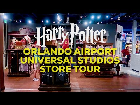 UNIVERSAL STUDIOS HARRY POTTER STORE IN THE ORLANDO AIRPORT TOUR