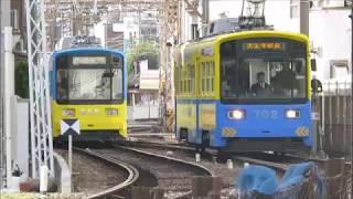 阪堺電車 住吉~神ノ木電停間にて2018年1月4日撮影)