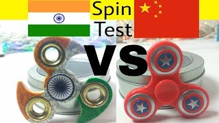 Made In India VS Made In China FIDGET SPINNER Test MUST WATCH | in Hindi