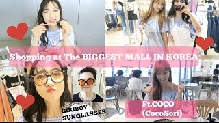 Shopping at THE Biggest Mall in Korea, What's in IDOL Makeup Pouch and GIRIBOY? Ft. Coco (CocoSori)