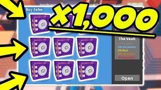 OPENING 1000+ ROBLOX JAILBREAK VAULT SAFES & TIER SAFES! | Q&A ASK ME ANYTHING!