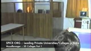 SPICE.ORG::Leading Private Universities:Colleges in India North::Muzaffarnagar::SD Colleges