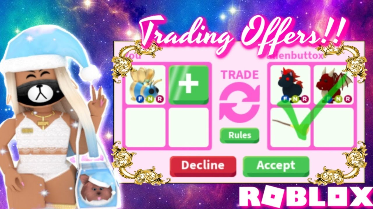 Trading In Adopt Me - YouTube