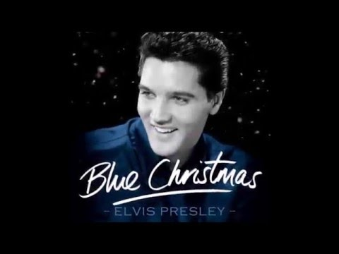 Elvis Presley - Blue Christmas (1957) With Lyrics