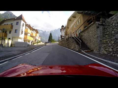 Stelvio Pass ascent and descent in an Alfa Romeo 4C