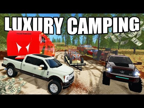 FARMING SIMULATOR 2017 | LUXURY CAMPING IN THE ROCKY MOUNTAINS | MULTIPLAYER!