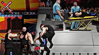 Braun Strowman Chokeslams Kevin Owens from the Top of the Steel Cage! (WWE 2K18 Extreme Rules 2018)