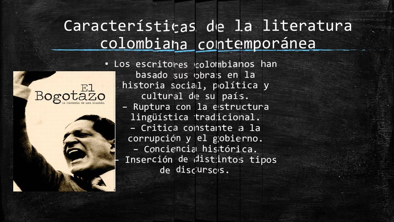 Periodo de la literatura contemporanea de la colombia for Caracteristicas de la contemporanea