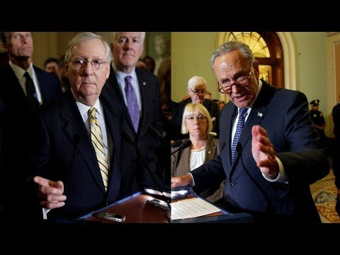 WATCH: Sens. McConnell, Schumer hold news briefings