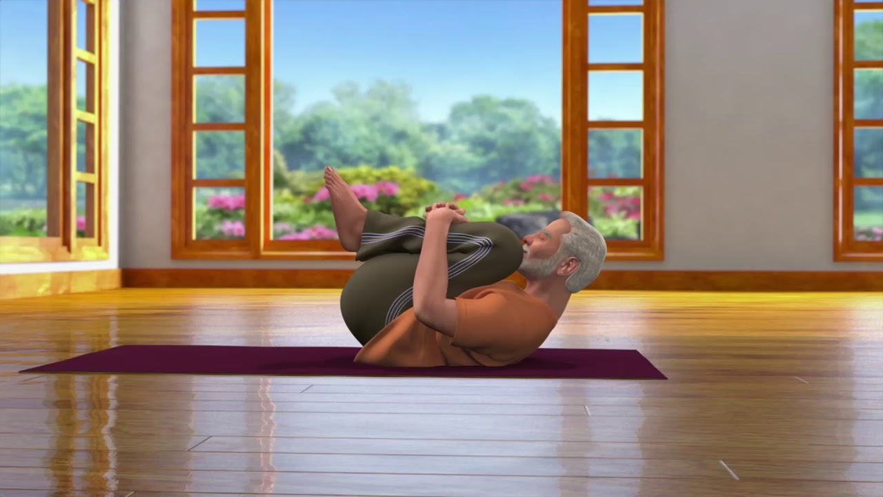 Yoga with Modi : Pawanmuktasana Hindi