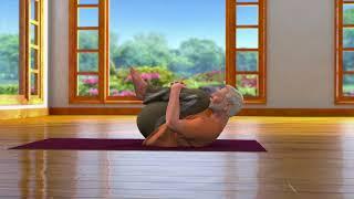 Yoga with Modi : Pawanmuktasana Hindi