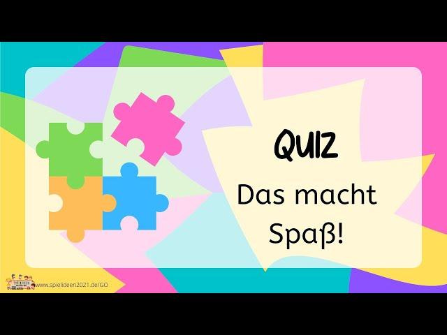 Spielideen QUIZ I Spielideen von Ben & Max - www.spielideen2021.de/GO