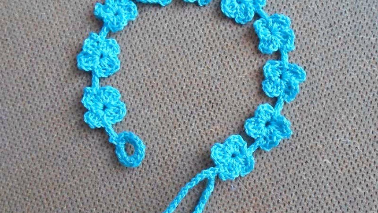 How To Crochet A Pretty Summer Flower Bracelet  Diy Style Tutorial   Guidecentral  Youtube