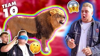 ESCAPED WILD LION PRANK IN TEAM 10 MANSION.. {SCARY}