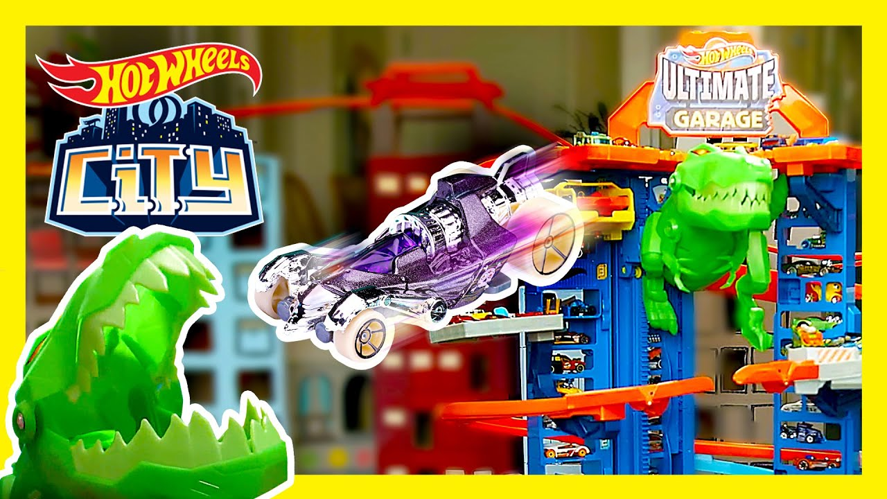 T-REX INVASION AT THE ULTIMATE GARAGE! 💥 | Hot Wheels City | @Hot Wheels