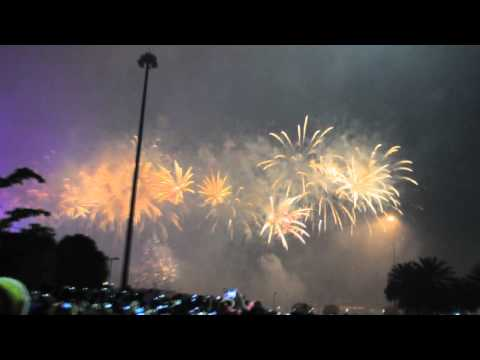 China, Guangzhou - New Year Celebration Firework Show