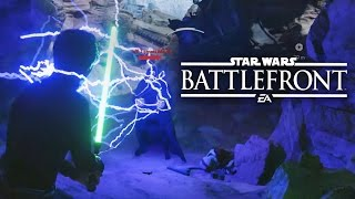 Star Wars Battlefront HEROES VS VILLAINS - LUKE SKYWALKER VS THE EMPEROR (GAMEPLAY)