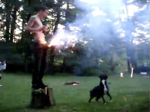 Drunk Puts Fireworks In His Pants