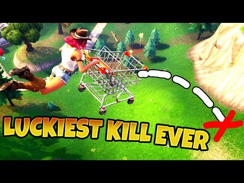*SHOPPING CART LUCKIEST KILL EVER* - Fortnite Funny Fails & WTF Moments 2018