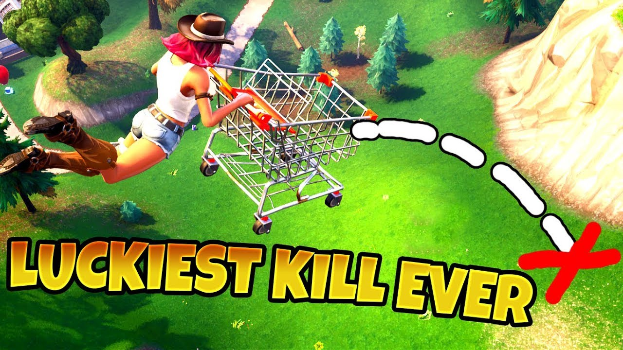 Shopping Cart Luckiest Kill Ever Fortnite Funny Fails Wtf