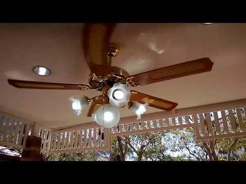 มาดูกันว่า พัดลมเพดาน หรือ พัดลมโคมไฟ ที่ติดตั้งแล้วส่ายและยังไม่ได้(ปรับถ่วง)เป็นยังไง.