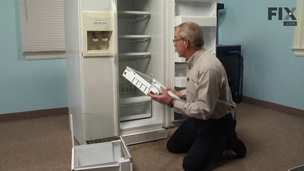 KitchenAid Refrigerator Repair – How to replace the Crisper Drawer ...