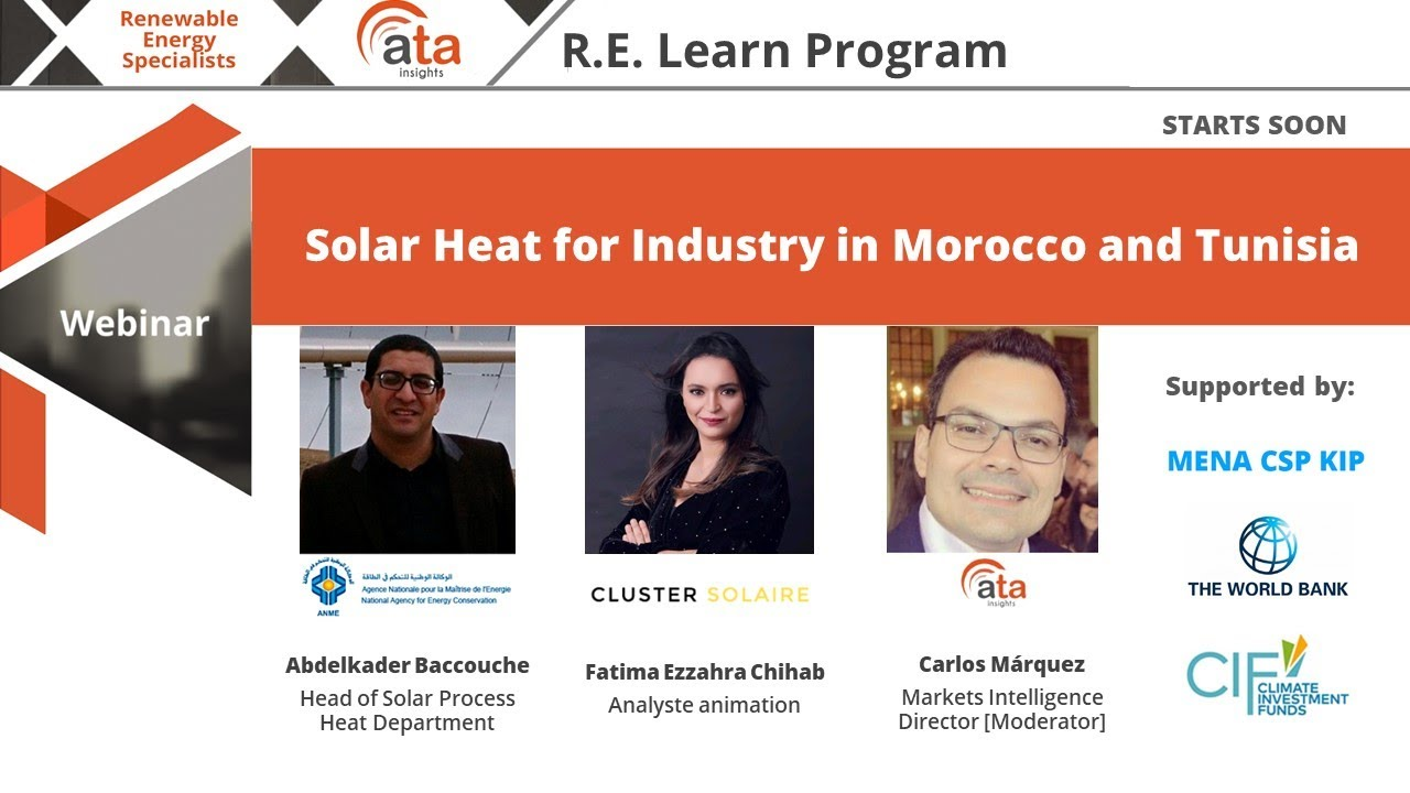 Download Webinar: Solar Heat for Industry in Morocco and Tunisia