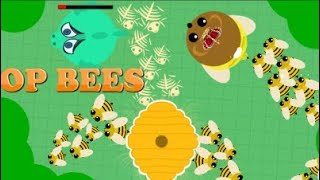 mope.io new Bear buff//BEES kill everything.... //Funny Moments