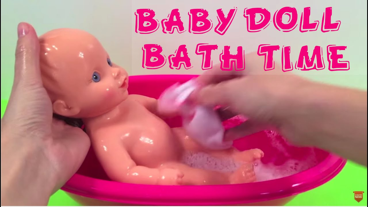 5 MINUTES TO BEDTIME - Newborn Baby Girl Doll & Bathtub Set - YouTube