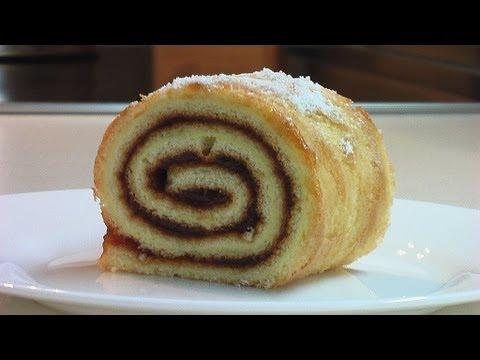Сладкий рулет за 25 минут видео рецепт ( Sweet roll . eng subtitles)