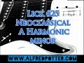 Lick #25 - Neoclassical A Harmonic Minor + TAB