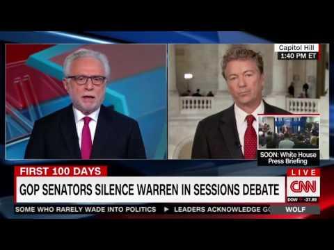 Rand Paul on Elizabeth Warren Being Silenced in the Senate