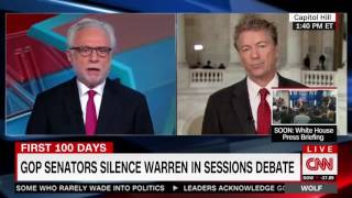 Rand Paul on Elizabeth Warren Being Silenced in the Senate