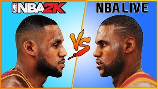 LeBRON JAMES NBA 2K vs NBA LIVE [2004 - 2017] 🏀