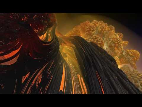 Mandelbulb flight - the lava dome