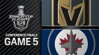 Vegas Golden Knights vs Winnipeg Jets – May. 20, 2018 | Game 5 | Stanley Cup 2018. Обзор