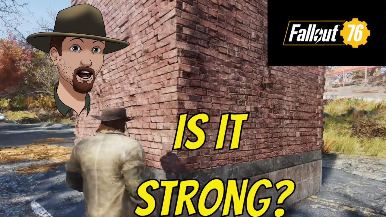 Fallout 76 Brick Wall Plan Where To Get It And How Strong Are They Youtube