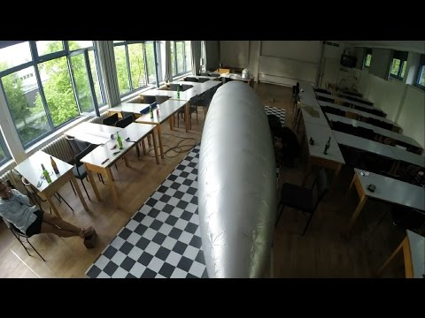 How to build an airship hull - time lapse