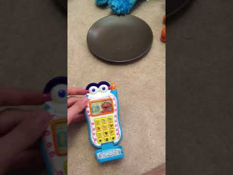 Sesame Street Elmo's World Toy Cell Phone By Mattel 2002