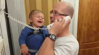 Baby Laughing when dad answers the phone | Must SEE, funny video