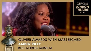 Amber Riley wins Best Actress in a Musical