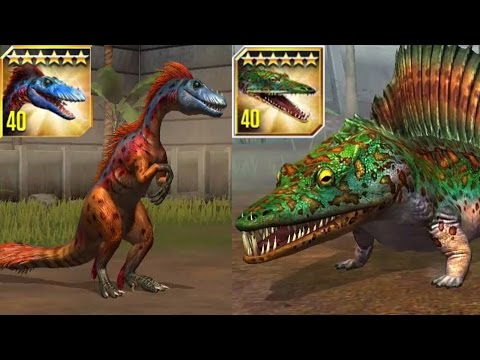 Tanycolagreus and Mastodonsaurus Max Level - Jurassic World The Game