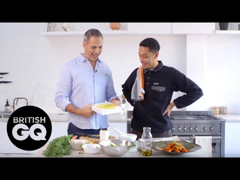 Ottolenghi and Loyle Carner cook delicious vegetarian dishes | British GQ