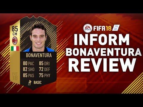 IN FORM BONAVENTURA (85) REVIEW!!! | FIFA 18 IF BONAVENTURA PLAYER REVIEW