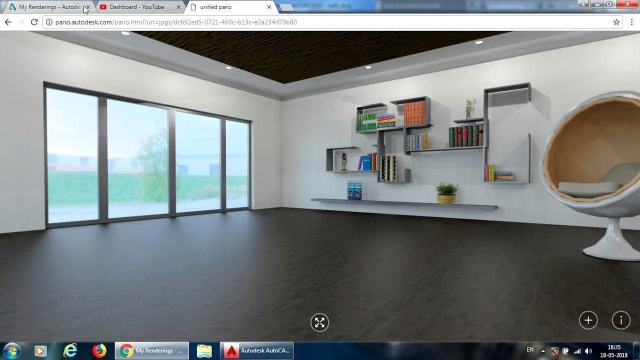 Autocad 3d Interior Design And Rendering Tutorial Episode 3 Youtube