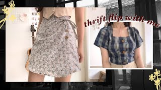 thrift flip with me 👗🌧✂️ FROM OLD TO NEW