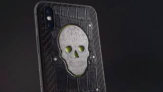 Jumo Glowing Skull. iPhone X customization.